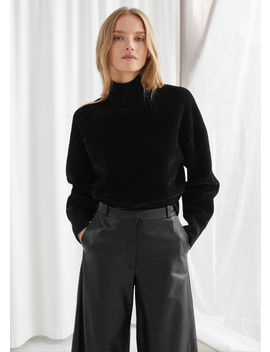 Boxy Double Knit Turtleneck Sweater by & Other Stories