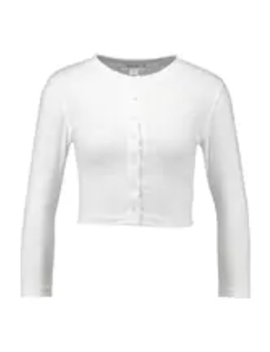 Button Front Long Sleeve Crop   Langærmede T Shirts by Missguided