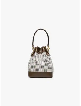 White Mon Tresor Mesh Bucket Bag by Fendi