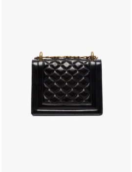 Black B Bag 18 Quilted Leather Bag by Balmain