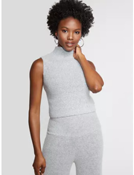 Grey Mock Neck Sweater   Gabrielle Union Collection by New York & Company