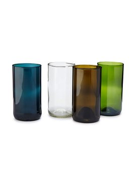 Wine Bottle Drinking Glasses   Set Of 4 by Uncommon Goods