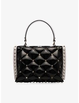 Black And White Garavani Candystud Pvc Shoulder Bag by Valentino