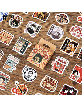 Vintage Japanese Cartoon Paper Small Diary Mini Cute Box Stickers Set Scrapbooking Kawaii Flakes Journal Stationery by Ali Express.Com