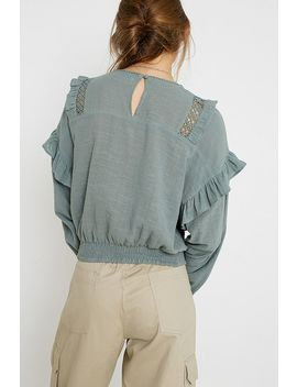 """Urban Outfitters– Bluse """"Victoriana"""" Mit Ösen by Urban Outfitters Shoppen"""
