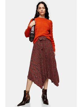 Orange All Over Pretty Knitted Sweater by Topshop