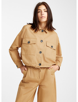Brushed Cotton Utility Jacket by Icône