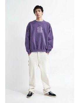Urban Outfitters– Sweatshirt In Lila Mit Rundhalsausschnitt Und Augenmotiv by Urban Outfitters Shoppen