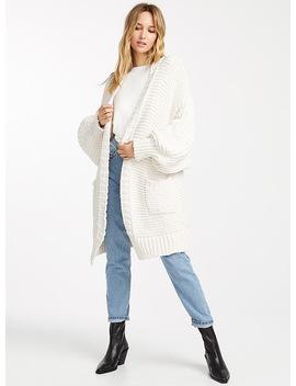 Chenille Knit Mega Cardigan by Icône