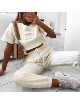 Cool Women High Waist Pant Solid Beige Loose Joggers Female Trousers 2019 Autumn Winter Chic Track Pants Thick Capris Sweatpants by Ali Express.Com