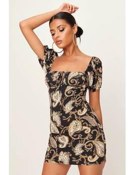 Paisley Print Puff Sleeve Mini Dress by I Saw It First