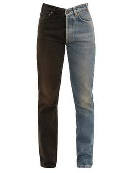 V Waist Two Tone Straight Leg Jeans by Balenciaga