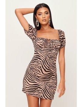 Tiger Print Puff Sleeve Mini Dress by I Saw It First