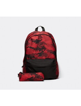 Halton Backpack And Pencil Case   Red Camo by Kings Will Dream