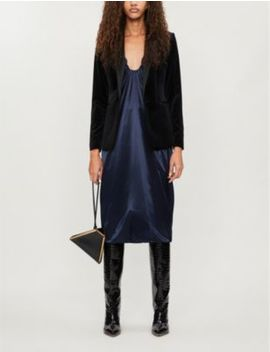 Vixena Peak Lapel Velvet Jacket by Reiss