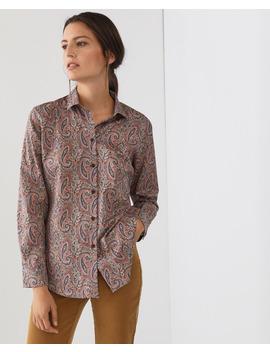 Camisa 100% Algodón De Mujer Con Estampado Paisley by Lloyd's