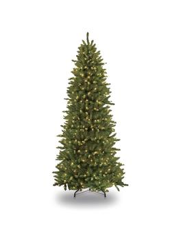 10 Ft. Pre Lit Incandescent Slim Fraser Fir Artificial Christmas Tree With 900 Ul Clear Lights by Puleo International