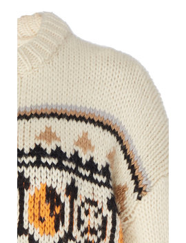 Intarsia Wool And Alpaca Blend Sweater by Ganni