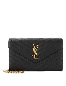 Quilted Monogram Wallet Crossbody Bag by Saint Laurent