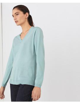 Jersey De Mujer 100% Lana Merino Con Escote En Pico by Lloyd's