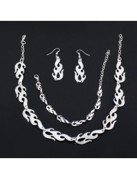 Sg Punk Flame Necklaces Clavicle Hip Hop Flame Rock Chain Bracelets Oorbellen Collar Metal Lady Girl Choker Fashion Jewelry by Ali Express.Com
