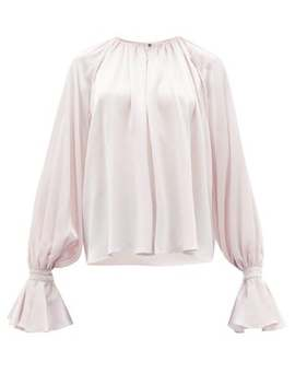 Pia Fluted Cuff Silk Blouse by Roksanda