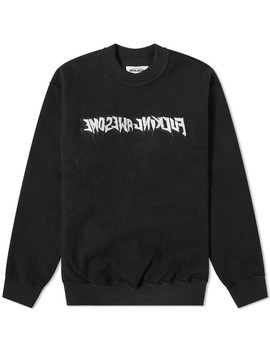 Fucking Awesome Reversible Empty Drip Crew Sweat by Fucking Awesome