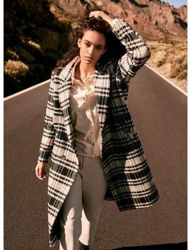 Wool Plaid Coat by Vero Moda
