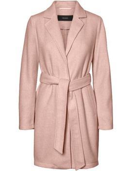 Nina Belted Brushed Coat by Vero Moda
