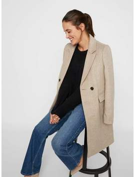 Double Breasted Wool Coat by Vero Moda
