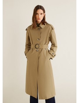 Trench Coton Ceinture by Mango