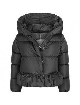 Girls Charcoal Down Padded Cayolle Jacket by Moncler