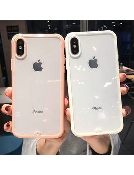 4 Colors Shockproof Bumper Transparent Silicone Phone Case For I Phone X Xs Xr Xs Max 8 7 6 6 S Plus Clear Protection Back Cover by Wish