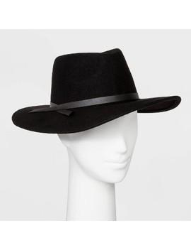 Women's Felt Wide Brim Fedora Hat   Universal Thread™ Black by Universal Thread
