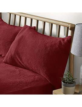 Teddy Bear Red Housewife Pillowcase by Dunelm
