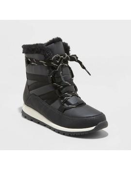 Women's Hessie Nylon Sport Bottom Winter Boots   Universal Thread™ Black by Universal Thread