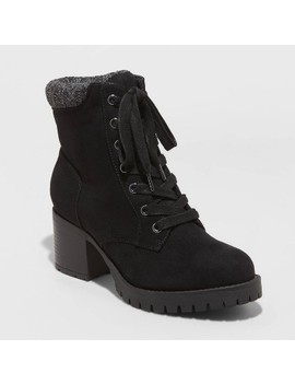 Women's Aveline Microsuede Heeled Lace Up Fashion Boots   Universal Thread™ by Universal Thread
