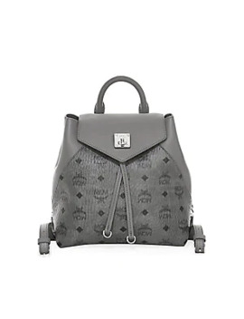 Small Essential Visetos Original Leather Backpack by Mcm