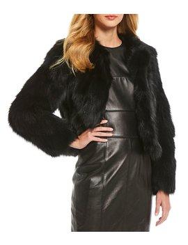 Luxury Collection Fara Genuine Fox Fur Bolero Jacket by Antonio Melani