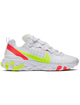 Nike React Element 55 White Crimson Volt by Stock X