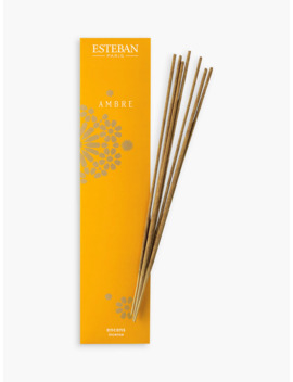 Esteban Ambre Incense Sticks, Pack Of 20 by Esteban