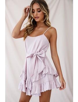 Petrie Ruffle Detail Waist Tie Dress Blush by Selfie Leslie
