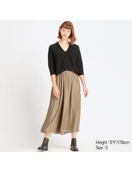 Pantalon À Plis Femme by Uniqlo