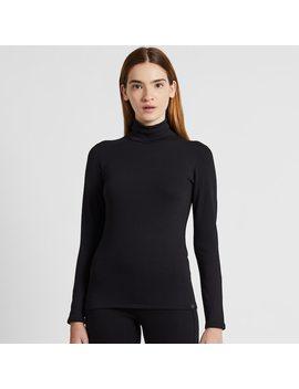 T Shirt Thermique Heattech Ultra Chaud À Manches Longues Et Col RoulÉ Femme by Uniqlo