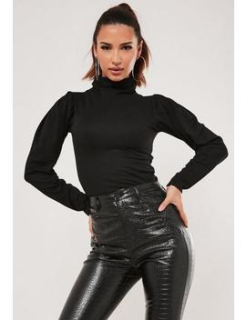 Recycled Tall Black High Neck Top by Missguided