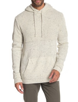 Contrast Knit Pullover Hoodie by Xray
