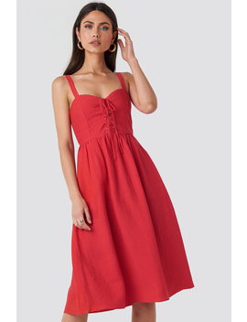 Fame Dress Red by Mango