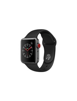 Apple Watch S3 2018 Cellular 38mm   S Grey/ Black Sport Band866/5681 by Argos