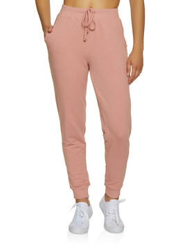 Solid French Terry Lined Joggers by Rainbow