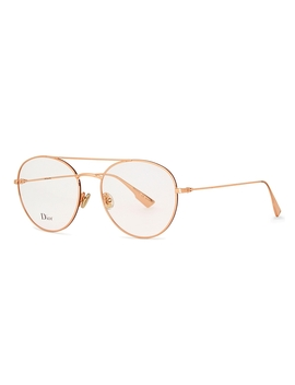 Dior Stellaire5 Rose Gold Tone Optical Glasses by Dior